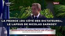 La France «du côté des dictateurs», le lapsus de Nicolas Sarkozy
