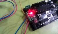 Stepper Motor Control (步進馬達控制) = Motoduino (Arduino+293D) + Stepper Motor