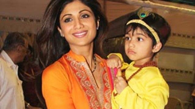 Shilpa Shetty celebrates Janmashtami with son Vivaan!