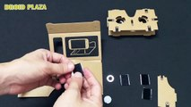 Google Cardboard DIY VR Kits ToolKit Virtual Reality 3D VR Glasses with Magnet