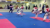 Sydney and Mason Super Green Belt Tae Kwon Do Test. August 2015.