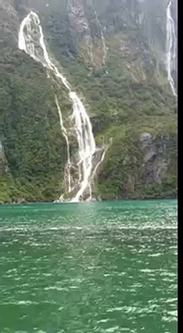 Beautiful waterfalls .... With the beautiful words of our creator - ALLAH