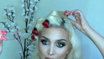 Hairstyles Old Hollywood Glamour Hair Tutorial (EASY) Inspired by Kim Kardashian New 2015