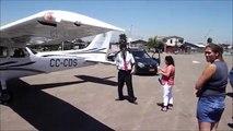 Avión cessna aterriza de emergencia en Colina.wmv
