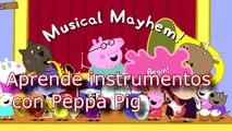 Peppa Pig,  Aprende instrumentos musicales sonido de instrumentos