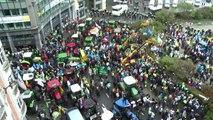 Agricultores de la UE protestan en Bruselas