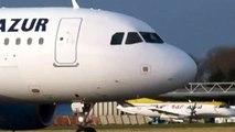 Décollage Airbus A319 Aigle Azur à L'aéroport de Lille Lesquin
