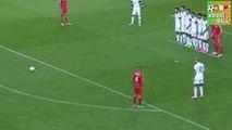 Israeli Player Rituels when Gareth Bale shoots