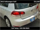 2012 Volkswagen Golf Used Cars Baltimore Maryland | CarZone USA