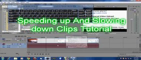 speeding up and slowing down clips in sony vegas