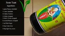 Vegan Vegetarian Thai Recipe: Som Tam - green Papaya Salad