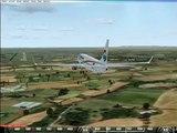 Flight Simulator X FSX Acceleration - Boeing 737-800 Landing