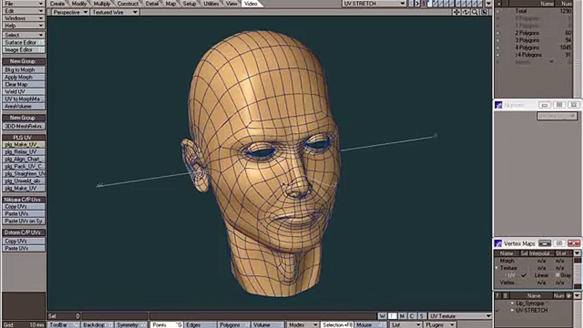Lightwave UV map for 3D painting Part5 - Making an Unwrap fit the UV space