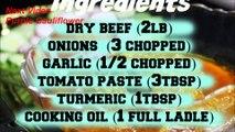 Dry meat Curry Recipe - Afghan Dry meat 'Afghan Cuisine' cooking afghan food