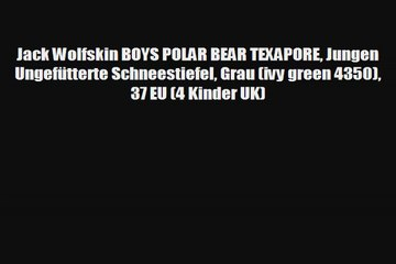quality design fdc51 bffca Jack Wolfskin BOYS POLAR BEAR TEXAPORE Jungen Ungefütterte ...
