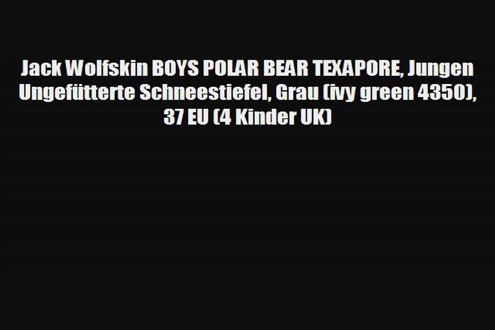 großhandel online klassisch am besten online Jack Wolfskin BOYS POLAR BEAR TEXAPORE Jungen Ungefütterte Schneestiefel  Grau ivy green