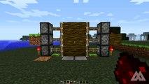 Minecraft: Redstone - Compact 2x3 Piston Door [60 Seconds]