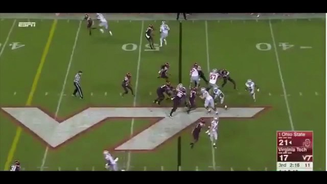 Braxton Miller does video game move on VT Tech