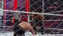 John Cena VS Rollins -steel cage- brock lesnar attack cena Raw 16/12/2014