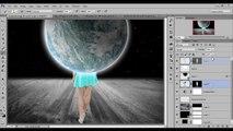 Manipulación Caminando en espacio - Photoshop CC Tutorial