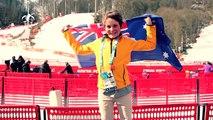 Ben Tudhope - Aussie Flag Bearer - Sochi Paralympics Closing Ceremony