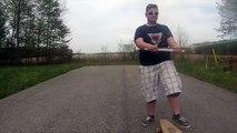 Violent Longboard fail - Next time you'll wear a helmet