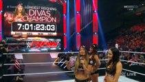 WWE Raw 07_09_15 Nikki Bella, Brie Bella, Alicia Fox, Paige, Becky Lynch & Charlotte Segment