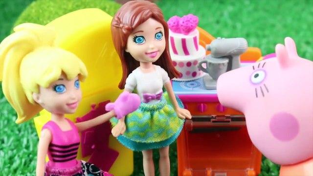 Pig George da Familia Peppa Pig destroi o Bolo do aniversário Novelinha da Peppa Pig ToyToysBrasil
