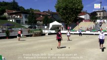 Interview Thierry Geoffroy, France Simple, Sport Boules, Chalamont 2015
