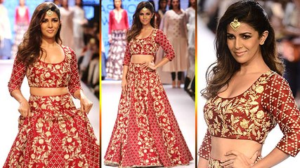 Nimrat Kaur Ramp Walk For Lakme Fashion Week 2015