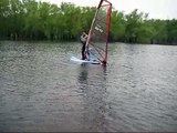 Rods First Time Windsurfing