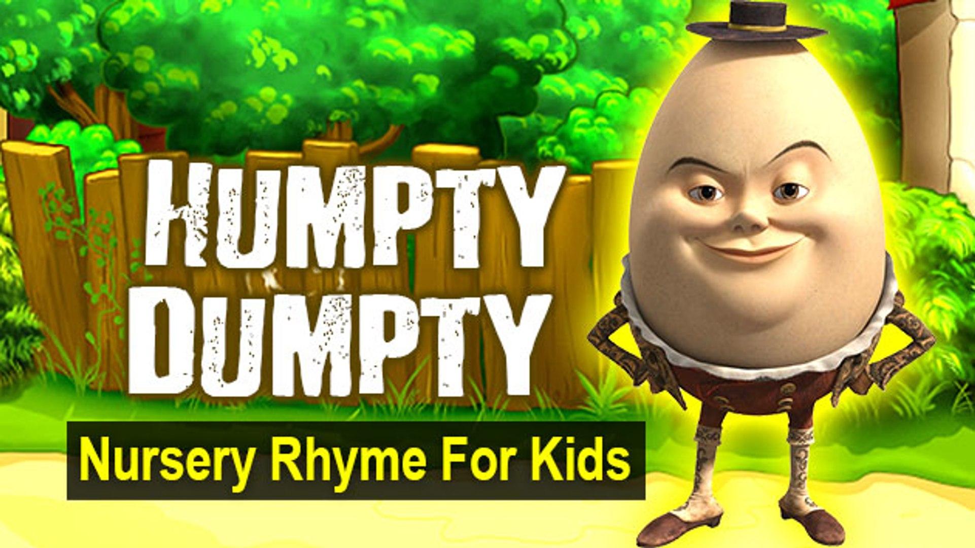 'Humpty Dumpty' - Nursery Rhyme For Kids | With Lyrics & Karaoke