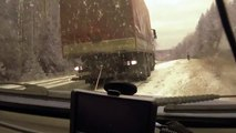 RUSSIAN DASH CAM Car almost gets in 2 seperate wrecks on icy road in Russia car fail compi