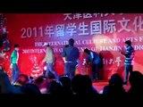 Sri lankan students performing act at Tianjin Int'l Medical University cultural programme 2011.flv