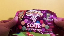 WAR HEADS Extreme Sour Hard Candy, Spray, & Chewy Cubes TasteTest with Batman & Superman
