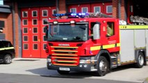 Dorset Fire & Rescue 2x Scania Water Ladders Turnout Of Poole Fire Station