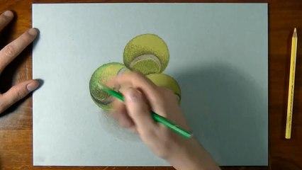 How I draw tennis balls