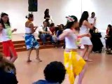 démonstration de danse tahitienne