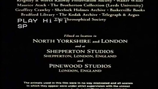 Closing to FairyTale: A True Story UK VHS (1998) video