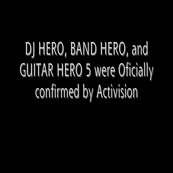 DJ Hero, Band Hero, and Guitar Hero 5 Announced