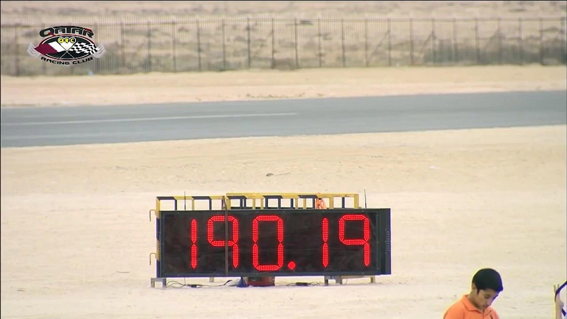 Toyota Supra reaches 194.13 MPH at Qatar Mile March 2013 - Qatar Racing Club