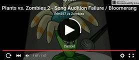 boomerang pvz 2 funny singing epic fail competion