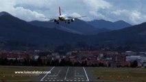 Aterrizaje imposible en Bilbao. LEBB..Crosswind. 14-02-2014.