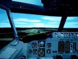 Boeing 737 Flight Simulator 2002 landing