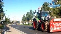 Paris-:-manifestation-des-agriculteurs,-Porte