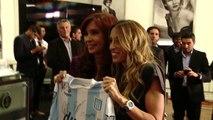 16 de DIC. Cristina Fernández recibió al equipo campeón del fútbol argentino, Racing Club.