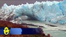 Argentine Glacier's Ice Crashes Down: Icebergs from Perito Moreno Glacier fall into Lake Argentina