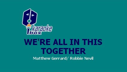 Karaoke Box - We're All In This Together (In The Style Of / Al Estilo De : High School Musical)