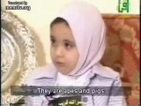 Arabs brainwashed little girls to hate Jews
