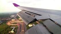 THAI Boeing 747-400 Approach and Landing in Bangkok Suvarnabhumi Airport Thai Airways HS-TGG